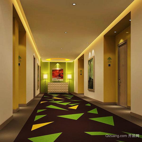 现代风格精致宾馆过道设计装修效果图