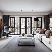 后现代风格大户型精美客厅设计装修效果图
