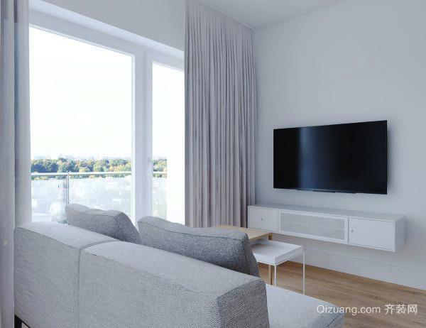 62平米简约风格一居室小户型室内装修效果图