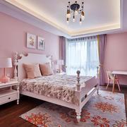 美式风格甜美粉色儿童房设计装修效果图赏析