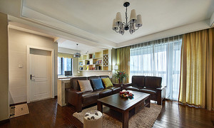 美式风格精致三室两厅室内装修效果图赏析