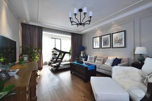 106平米美式风格精美清新两室两厅室内装修效果图