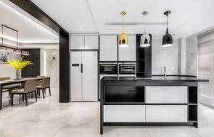 现代简约风格时尚开放式厨房装修效果图