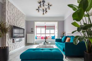 现代风格时尚精美客厅设计装修实景图赏析