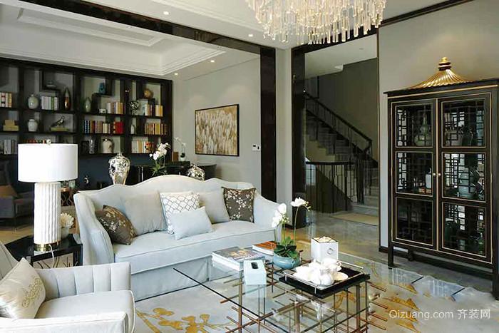新中式风格清新素雅别墅室内装修效果图