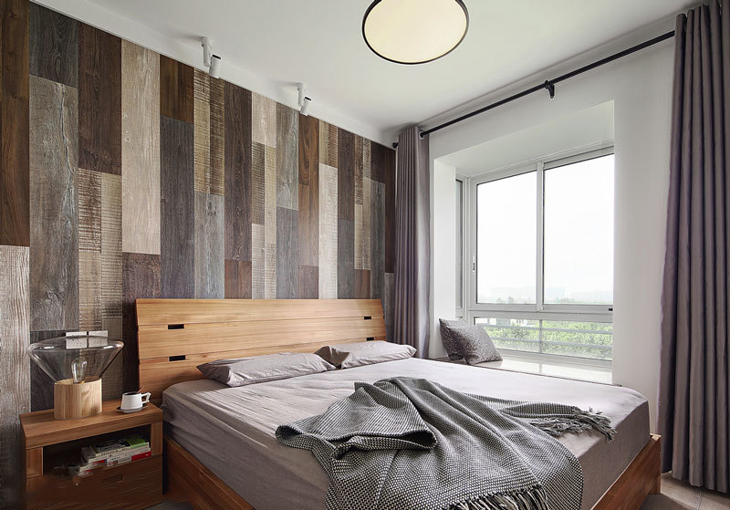 宜家简约风格时尚卧室背景墙装修效果图赏析
