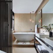 中式风格大户型精致卫生间设计装修效果图