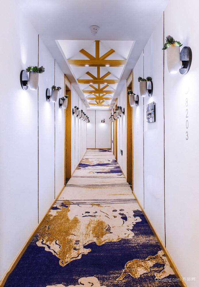 新中式风格精致宾馆过道装修效果图