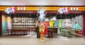 80平米现代风格精致餐厅设计装修效果图