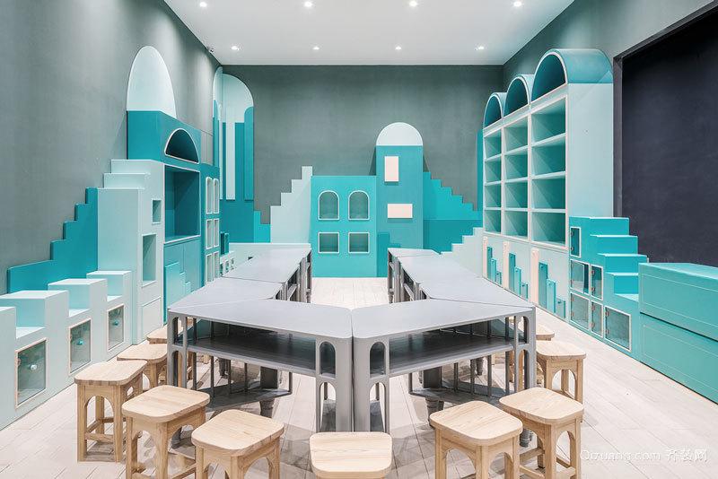 现代简约风格清新幼儿园设计装修效果图