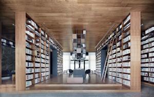 现代风格精致图书馆设计装修效果图