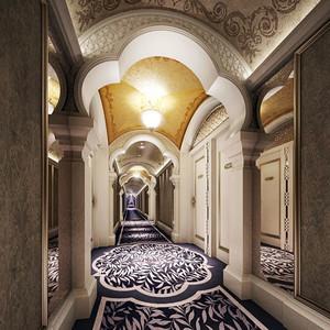 欧式风格精致酒店过道装修效果图