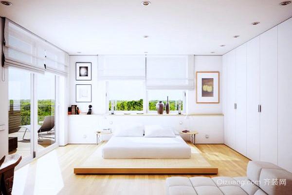 现代风格精美白色卧室装修效果图大全