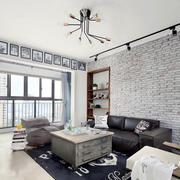 后现代风格大户型客厅背景墙装修效果图
