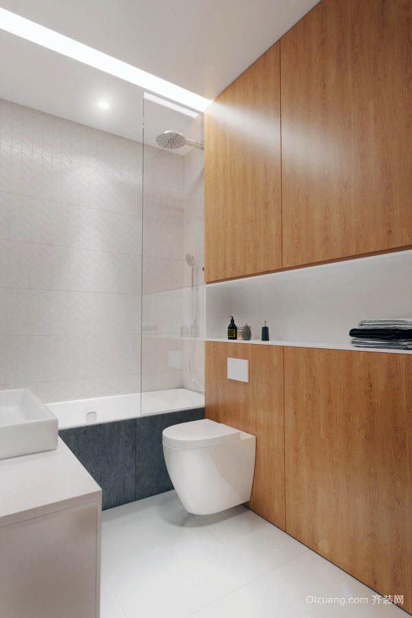 66平米简约风格精致公寓设计装修效果图