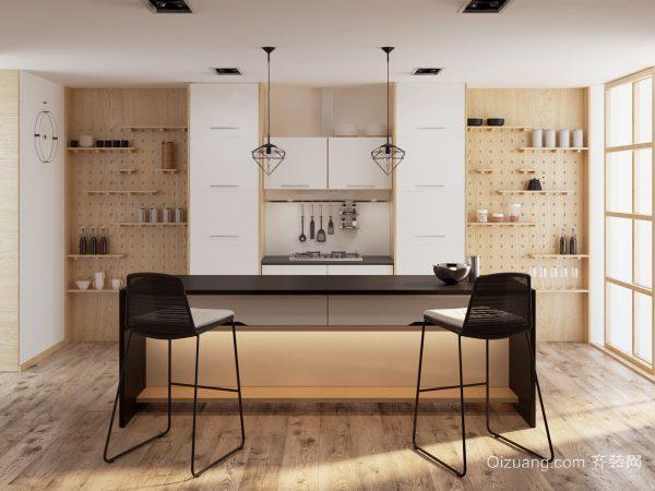 现代风格时尚开放式厨房装修效果图大全