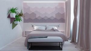 后现代风格时尚精美卧室背景墙装修效果图