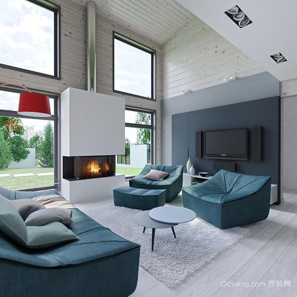 200平米现代简约风格别墅室内设计装修效果图
