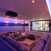 现代风格大户型精美家庭影院装修效果图