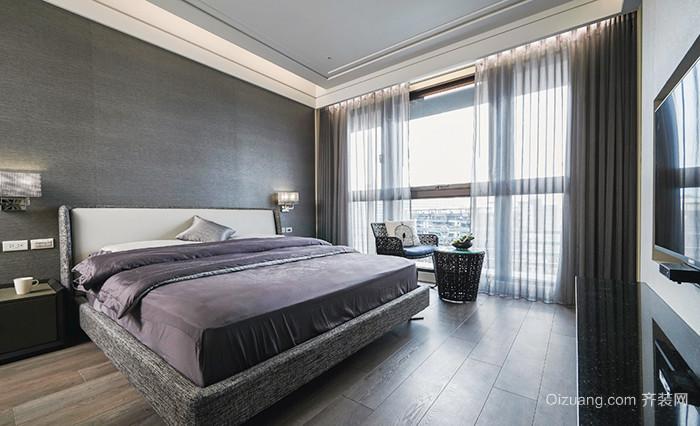 120平米新中式风格稳重典雅室内设计装修效果图