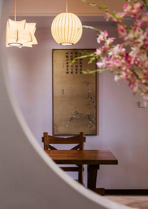新中式风格素雅精致三室两厅室内装修效果图