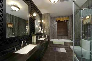 124平米中式风格三室两厅室内设计装修效果图