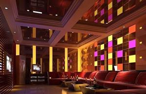 现代风格KTV包厢背景墙装修效果图