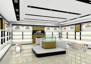 74平米现代风格精品鞋店装修效果图