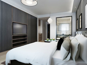 现代风格精品酒店客房设计装修效果图