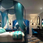 简约风格时尚主题酒店客房装修效果图