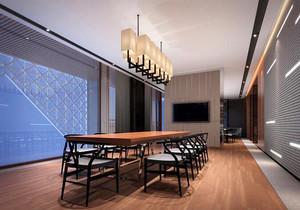 中式风格精致会议室装修效果图赏析