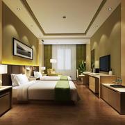 现代风格精致酒店标准间设计装修效果图
