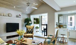 北欧风格清新精美三室两厅室内设计装修实景图