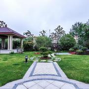 中式风格精美别墅花园设计装修效果图