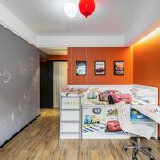 简欧风格温暖橘色儿童房装修效果图