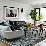 后现代风格时尚创意客厅设计装修效果图