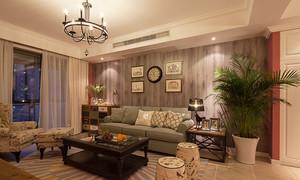 混搭风格时尚活力两室两厅室内装修效果图实例