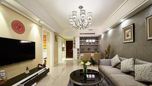124平米简欧风格精美三室两厅室内装修效果图