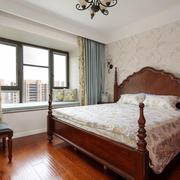 美式风格古典优雅卧室飘窗设计装修效果图赏析