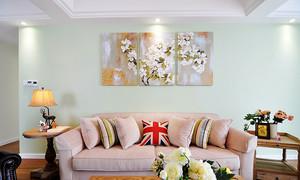 90平米清新风格精美室内装修效果图案例
