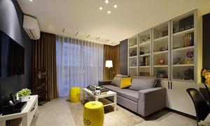 69平米现代风格精致一居室室内装修效果图案例
