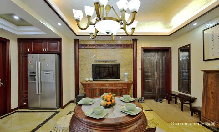 中式风格古典精致大户型室内设计装修效果图