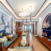 中式风格古风精美客厅背景墙装修实景图赏析