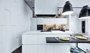 现代风格精装白色厨房装修效果图大全