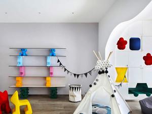 北欧风格简约创意儿童房布置装修效果图