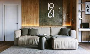 62平米现代风格灰色系时尚单身公寓装修效果图赏析