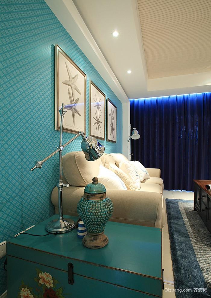 地中海风格混搭精美三室两厅室内装修效果图案例