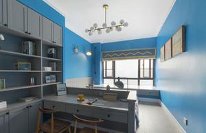地中海风格精美蓝色书房装修效果图赏析