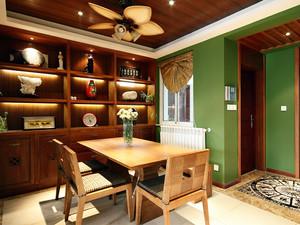 东南亚风格古典精致书房设计装修效果图