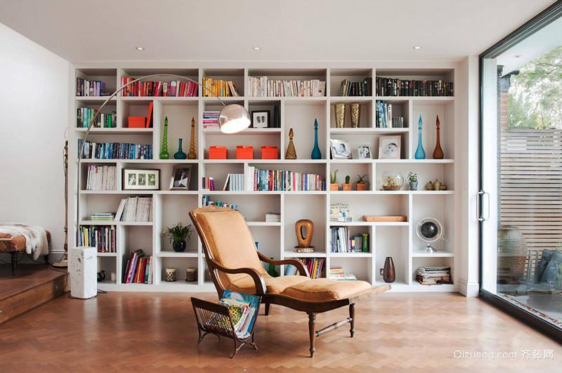 混搭风格浅色精美开放式书房装修效果图